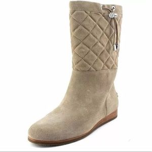Michael Kors Lizzie Boots SZ 5.5 Quilted Mid NWOB